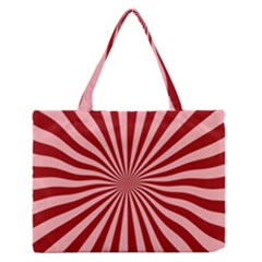 Sun Background Optics Channel Red Medium Zipper Tote Bag by BangZart