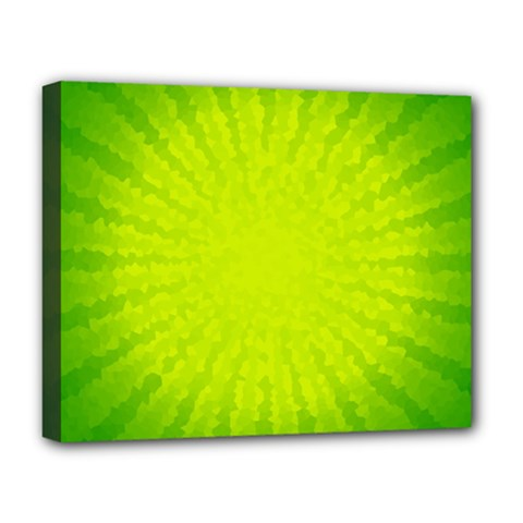 Radial Green Crystals Crystallize Deluxe Canvas 20  X 16   by BangZart