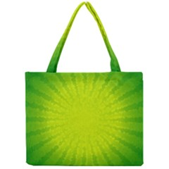 Radial Green Crystals Crystallize Mini Tote Bag