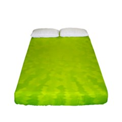Radial Green Crystals Crystallize Fitted Sheet (full/ Double Size) by BangZart