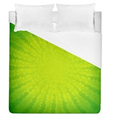 Radial Green Crystals Crystallize Duvet Cover (queen Size)