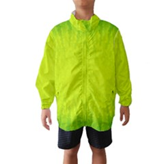 Radial Green Crystals Crystallize Wind Breaker (kids)