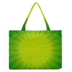 Radial Green Crystals Crystallize Medium Zipper Tote Bag