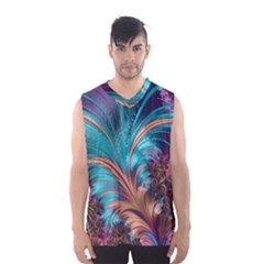 Feather Fractal Artistic Design Men s Basketball Tank Top