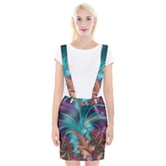 Feather Fractal Artistic Design Braces Suspender Skirt