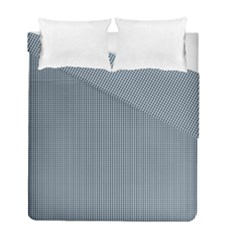 Silent Night Blue Mini Gingham Check Plaid Duvet Cover Double Side (full/ Double Size)
