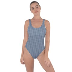 Silent Night Blue Mini Gingham Check Plaid Bring Sexy Back Swimsuit