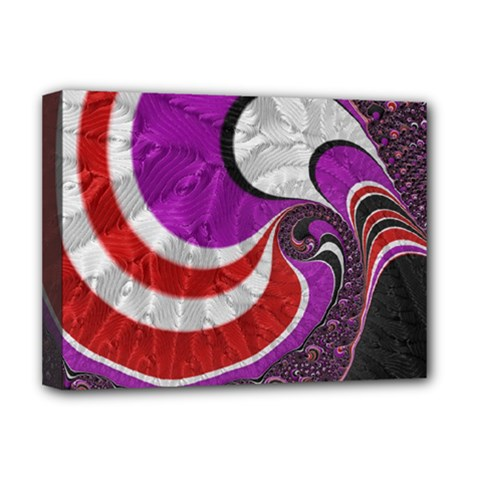 Fractal Art Red Design Pattern Deluxe Canvas 16  X 12