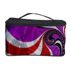 Fractal Art Red Design Pattern Cosmetic Storage Case by BangZart