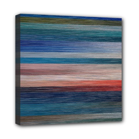 Background Horizontal Lines Mini Canvas 8  X 8  by BangZart