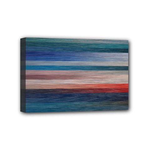 Background Horizontal Lines Mini Canvas 6  X 4