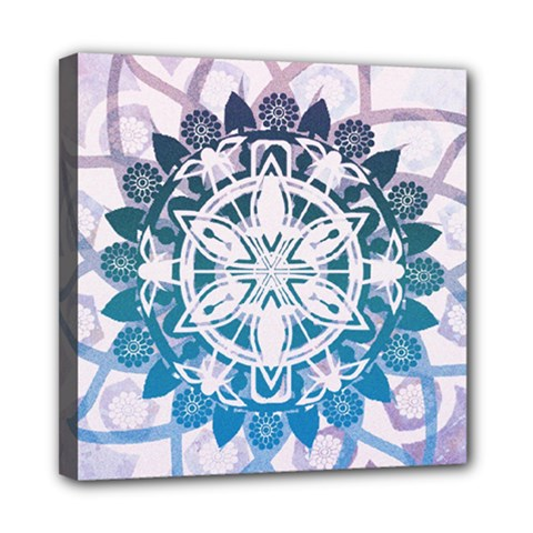 Mandalas Symmetry Meditation Round Mini Canvas 8  X 8