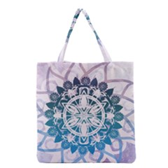 Mandalas Symmetry Meditation Round Grocery Tote Bag