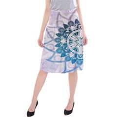 Mandalas Symmetry Meditation Round Midi Beach Skirt