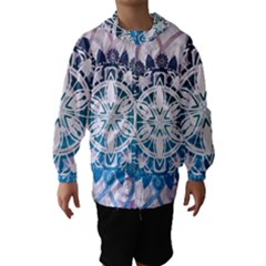 Mandalas Symmetry Meditation Round Hooded Wind Breaker (kids)