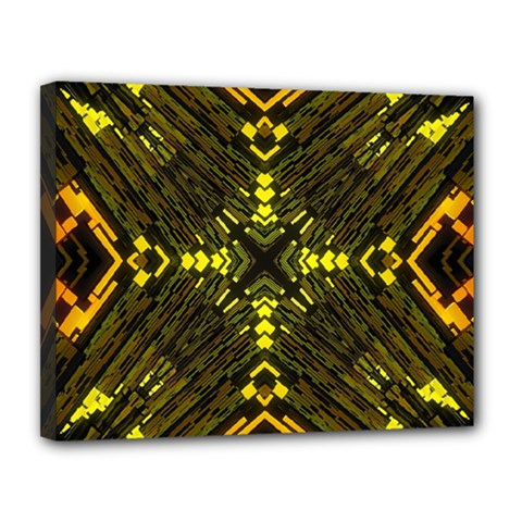 Abstract Glow Kaleidoscopic Light Canvas 14  X 11