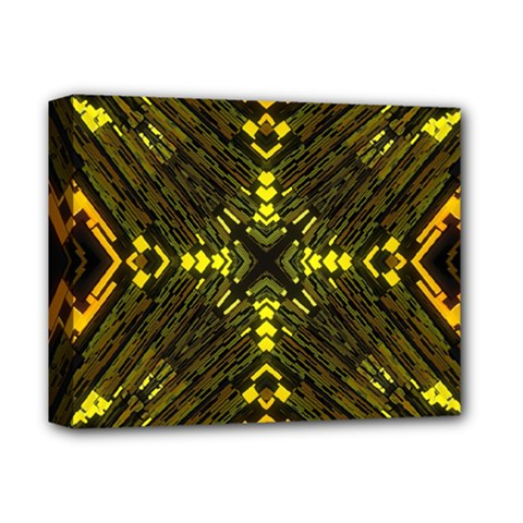 Abstract Glow Kaleidoscopic Light Deluxe Canvas 14  X 11  by BangZart