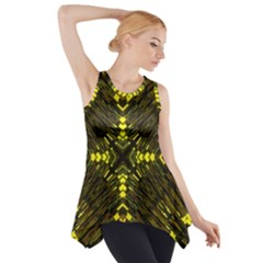 Abstract Glow Kaleidoscopic Light Side Drop Tank Tunic