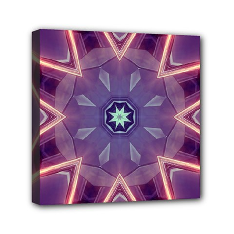 Abstract Glow Kaleidoscopic Light Mini Canvas 6  X 6  by BangZart