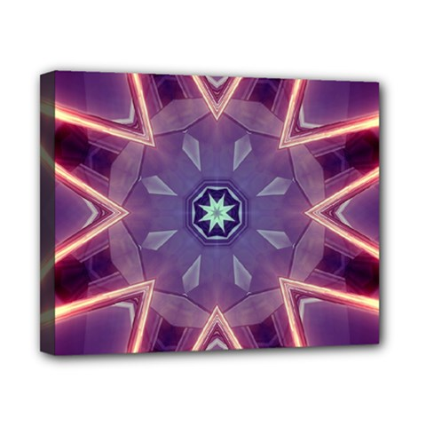 Abstract Glow Kaleidoscopic Light Canvas 10  X 8  by BangZart
