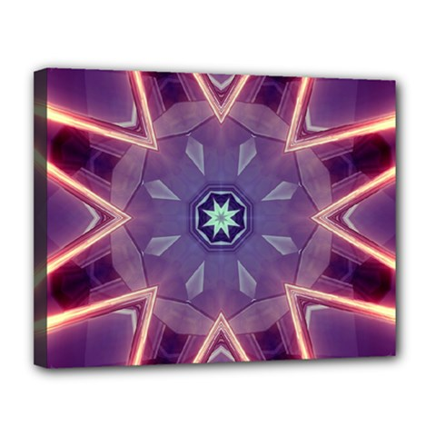 Abstract Glow Kaleidoscopic Light Canvas 14  X 11  by BangZart