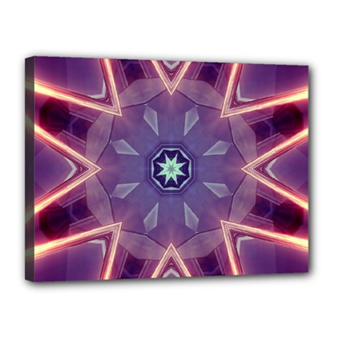 Abstract Glow Kaleidoscopic Light Canvas 16  X 12  by BangZart