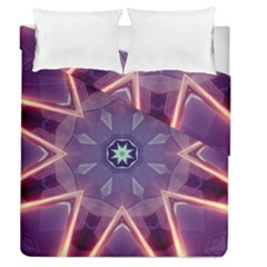 Abstract Glow Kaleidoscopic Light Duvet Cover Double Side (queen Size)