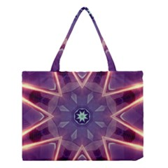 Abstract Glow Kaleidoscopic Light Medium Tote Bag by BangZart