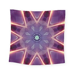 Abstract Glow Kaleidoscopic Light Square Tapestry (small)