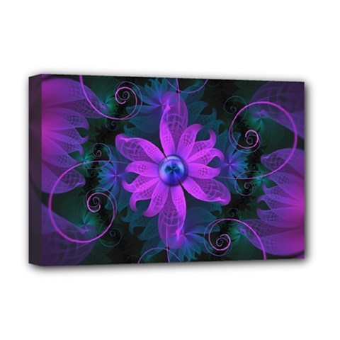 Beautiful Ultraviolet Lilac Orchid Fractal Flowers Deluxe Canvas 18  X 12   by beautifulfractals