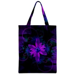 Beautiful Ultraviolet Lilac Orchid Fractal Flowers Classic Tote Bag by jayaprime