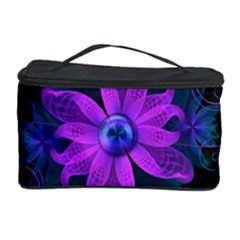 Beautiful Ultraviolet Lilac Orchid Fractal Flowers Cosmetic Storage Case by jayaprime