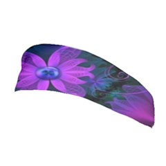 Beautiful Ultraviolet Lilac Orchid Fractal Flowers Stretchable Headband by jayaprime