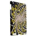 Liquid Taxi Cab, a Yellow Checkered Retro Fractal Apple iPad 3/4 Hardshell Case View2