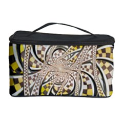 Liquid Taxi Cab, A Yellow Checkered Retro Fractal Cosmetic Storage Case by beautifulfractals