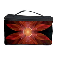 Beautiful Red Passion Flower In A Fractal Jungle Cosmetic Storage Case by beautifulfractals