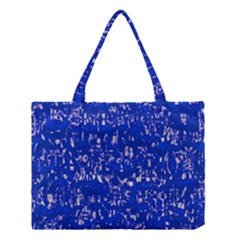 Glossy Abstract Blue Medium Tote Bag by MoreColorsinLife