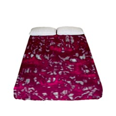 Glossy Abstract Pink Fitted Sheet (full/ Double Size) by MoreColorsinLife
