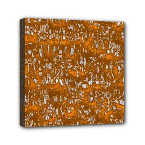 Glossy Abstract Orange Mini Canvas 6  X 6  by MoreColorsinLife