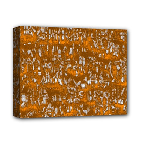 Glossy Abstract Orange Deluxe Canvas 14  X 11  by MoreColorsinLife