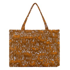 Glossy Abstract Orange Medium Tote Bag by MoreColorsinLife