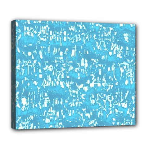 Glossy Abstract Ocean Deluxe Canvas 24  X 20   by MoreColorsinLife