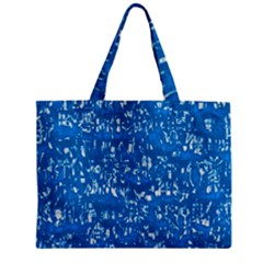 Glossy Abstract Teal Zipper Mini Tote Bag by MoreColorsinLife