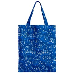 Glossy Abstract Teal Zipper Classic Tote Bag by MoreColorsinLife