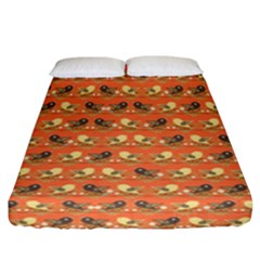 Birds Pattern Fitted Sheet (california King Size) by linceazul
