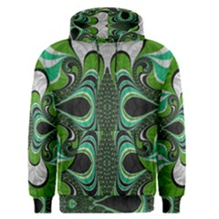 Fractal Art Green Pattern Design Men s Pullover Hoodie