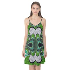 Fractal Art Green Pattern Design Camis Nightgown