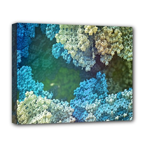 Fractal Formula Abstract Backdrop Deluxe Canvas 20  X 16   by BangZart