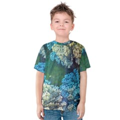 Fractal Formula Abstract Backdrop Kids  Cotton Tee