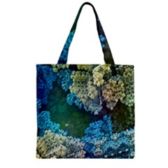 Fractal Formula Abstract Backdrop Zipper Grocery Tote Bag by BangZart